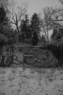 Friedhof, Mauer, Fotografie, Fundstücke