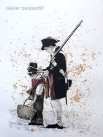 Reenactment, Waterloo, Belle alliance, Alliierte