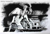 Hammer, Schwert, Zeichnung, Eisen