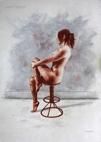 Frau, Model, Schlank, Sitzen