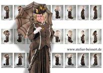 Kostüm, Mittelalter, Atelier, Modelpose