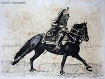 Schwarzpulver, Geschichte, Zeichnung, Reenactment