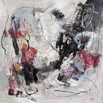 Dreamcatcher, Acrylmalerei, Mystik, Intuitiv painting