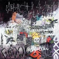 Ausdrucksmalerei, Acrylmalerei, Pastellmalerei, Mixed media