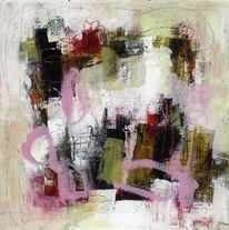 Intuitive, Gefühl, Abstrakt, Pastellmalerei