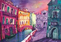Venedig, Rio, Malerei, Brücke