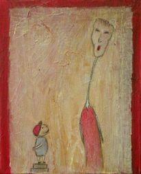 Groß, Figur, Menschen, Malerei