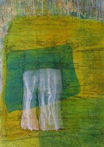 Gelb, Blau, Grün, Abstrakt