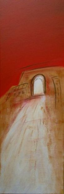 Haus, Siena, Rot schwarz, Weg