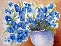 Blumenmalerei, Stillleben, Aquarellmalerei, Blumenstrauß