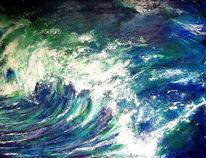 Meer, Wasser, Die welle, Blau