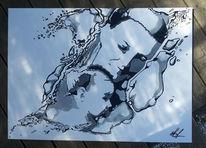 Schwung, Wasser, Mutter, Portrait