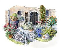 Illustration, Pflanzen, Aquarellmalerei, Blumen
