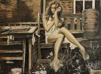 Ölmalerei, Zeichnung, Ochlophobie, Malerei
