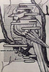 Hidden poem, Zeichnung, Vogel, Grafik