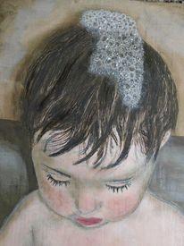 Portrait, Seifenschaum, Malerei