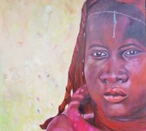 Afrika, Farben, Himba, Frau