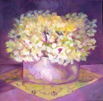 Vase, Hortensien, Blumen, Malerei
