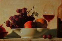 Stillleben, Realistische malerei, Realismus, Ölmalerei