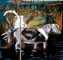 Pferde, Gestein, Malerei, Stall