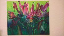 Fauna, Fantasie, Acrylmalerei, Flora