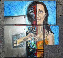 Acrylmalerei, Malerei, Teil, Lassen