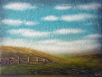 Landschaft, Natur, Wolken, Blau