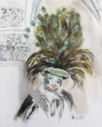 Pfau, Karneval, Venedig, Maske