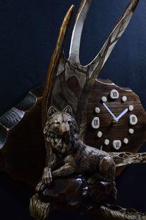 Elch horn, Wolf, Schitzerei, Interieur