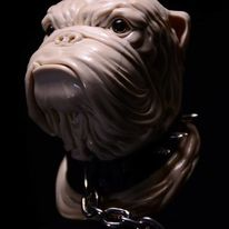 Hund, Schnitzkunst, Skulptur, Holz
