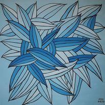 Acrylmalerei, Malerei, Abstrakt, Herbst