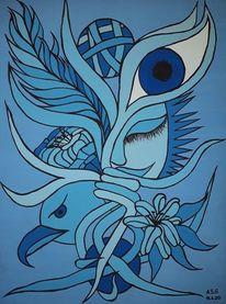 Leben, Fantasie, Baum, Malerei