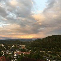 Haus, Berge, Weite, Sonnenaufgang