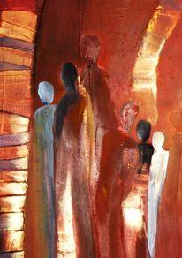 Bunt, Abstrakt, Menschen, Acrylmalerei