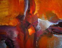 Acryl auf leinwand, Abstrakt, Fantasie, Malerei
