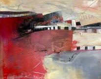 Rot, Modern, Acrylmalerei, Malerei