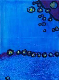Blau, Kügelchen, Malerei