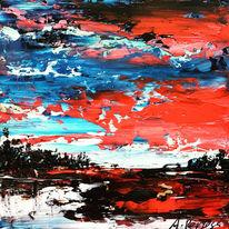 Ölmalerei, Ölfarben, Spachteltechnik, Malerei