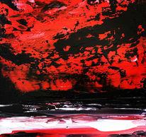 Spachteltechnik, Landschaft, Ölmalerei, Malerei