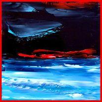 Abstrakt, Ölfarben, Spachteltechnik, Malerei