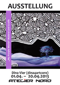 Ausstellung, Vernissage, Dina4artcore, Pinnwand