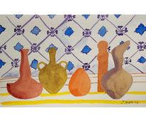 Stillleben, Komposition, Afrikanische vasen, Orientalisches stillleben