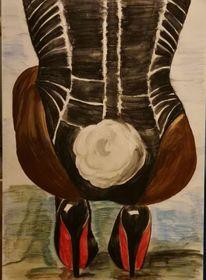 Bunny, Frau, Malerei