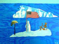 Flagge, Eisbär, Skalp, Skelett
