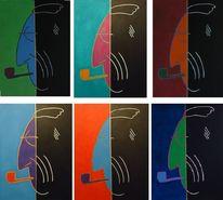 Malerei, Pop art, Graf, Ansichtssache luckner