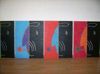 Modern art painting, Saale, Modern art, Pop