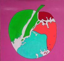 Teuscher, Groß, Apfel, Pop art