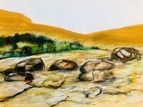 Landschaft, Südfrankreich, Zeichnungen,