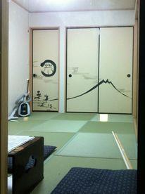 Fusuma, Japanische malerei, Daruma, Malerei