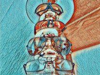 Spiegel, Brille, Sonnenbrillen, Outsider art